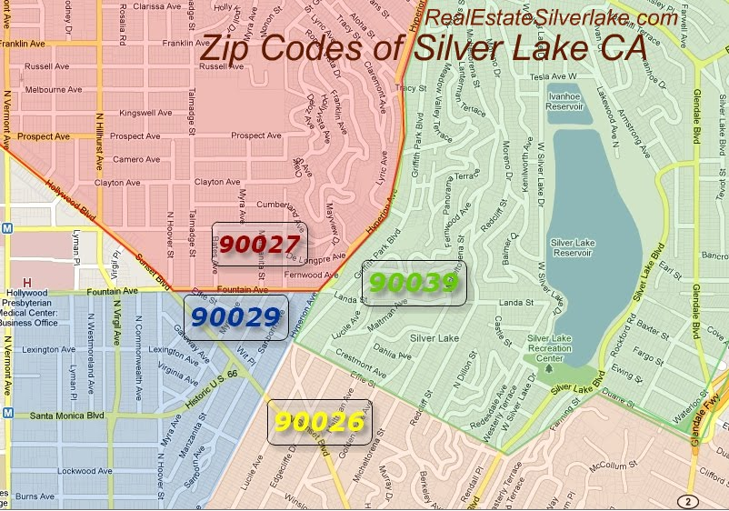 Silverlake Los Angeles Map.Sky S The Limit Real Estate Blog Silver Lake Map By Zip Codes