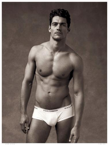 Straight male model