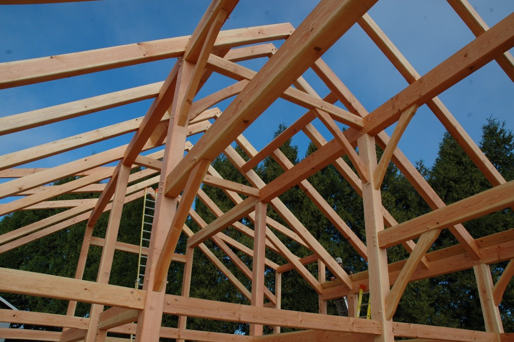 CutMyTimber: Timber Frame Raising in Oregon, USA