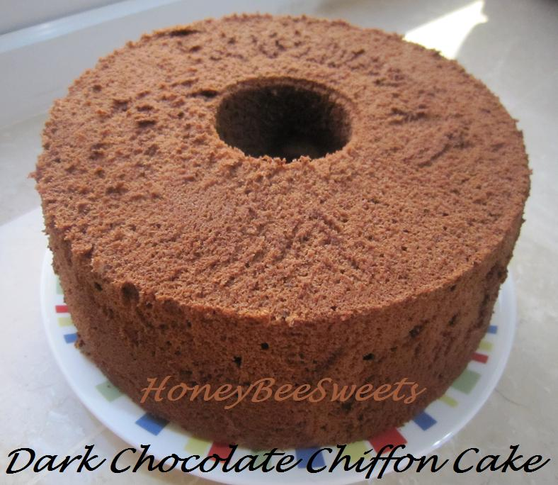 chocolate chiffon cake honey bee aspiring bakers 1 chocolate 2849