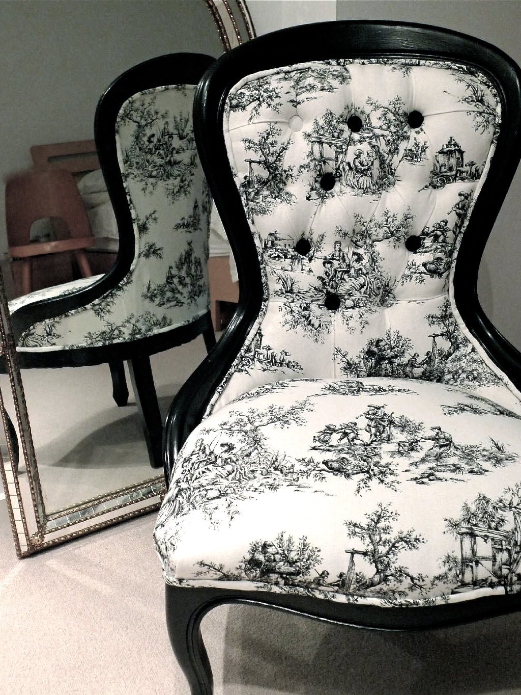 Toile Chair Jo Price Upholstery 43 Design Commissions