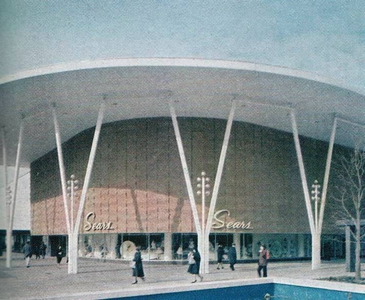 Malls In Ct >> Pleasant Family Shopping: Sears Oakbrook Center, 1962