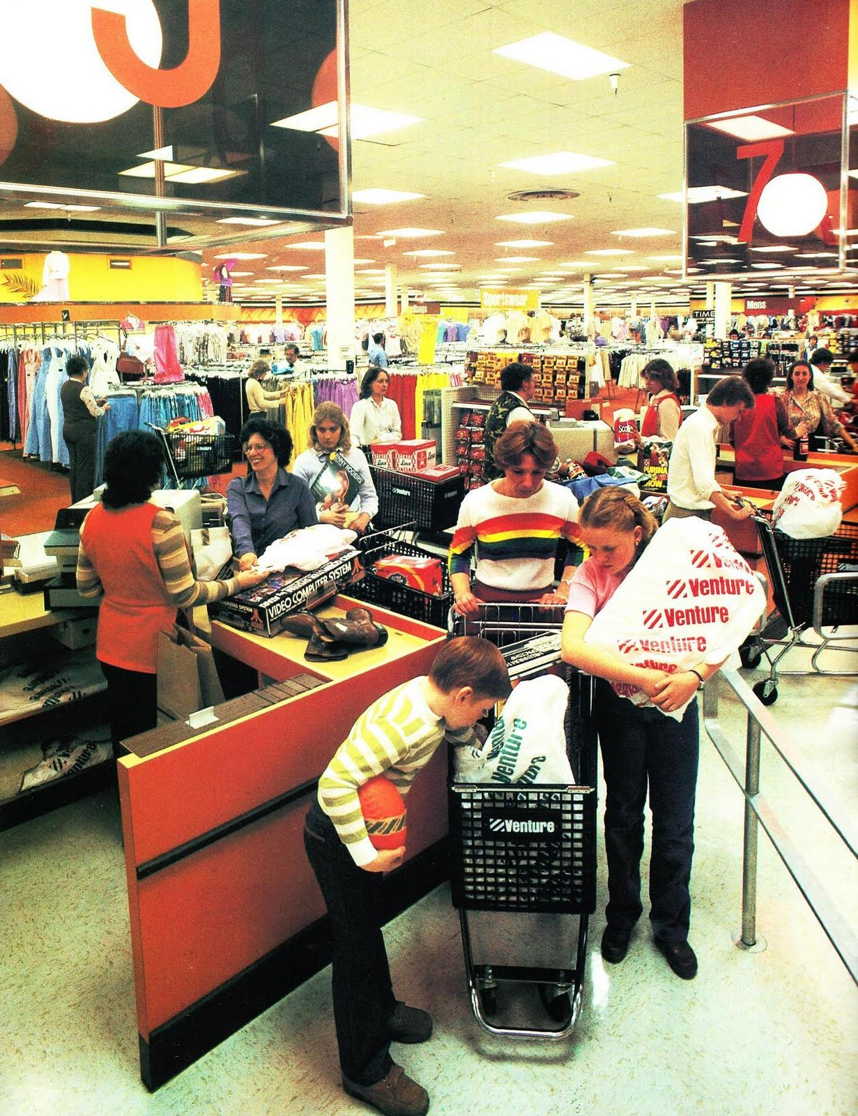 Defunct Department Stores: Pleasant Family Shopping: Save At Venture...Save With Style