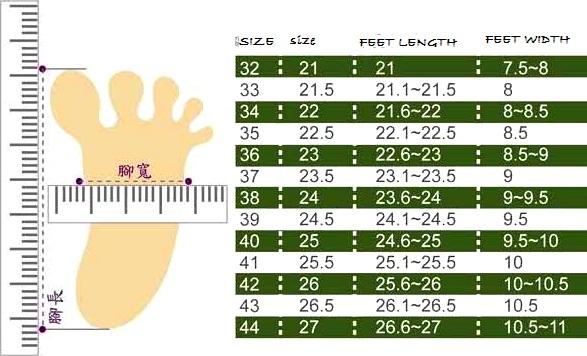 Gals avenue shoes measurement chart also rh galsavenuespot