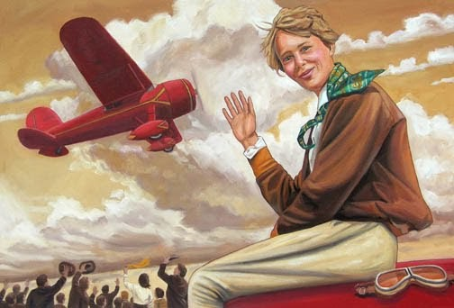 Craig Orback Illustration: Amelia Earhart In Color 2009