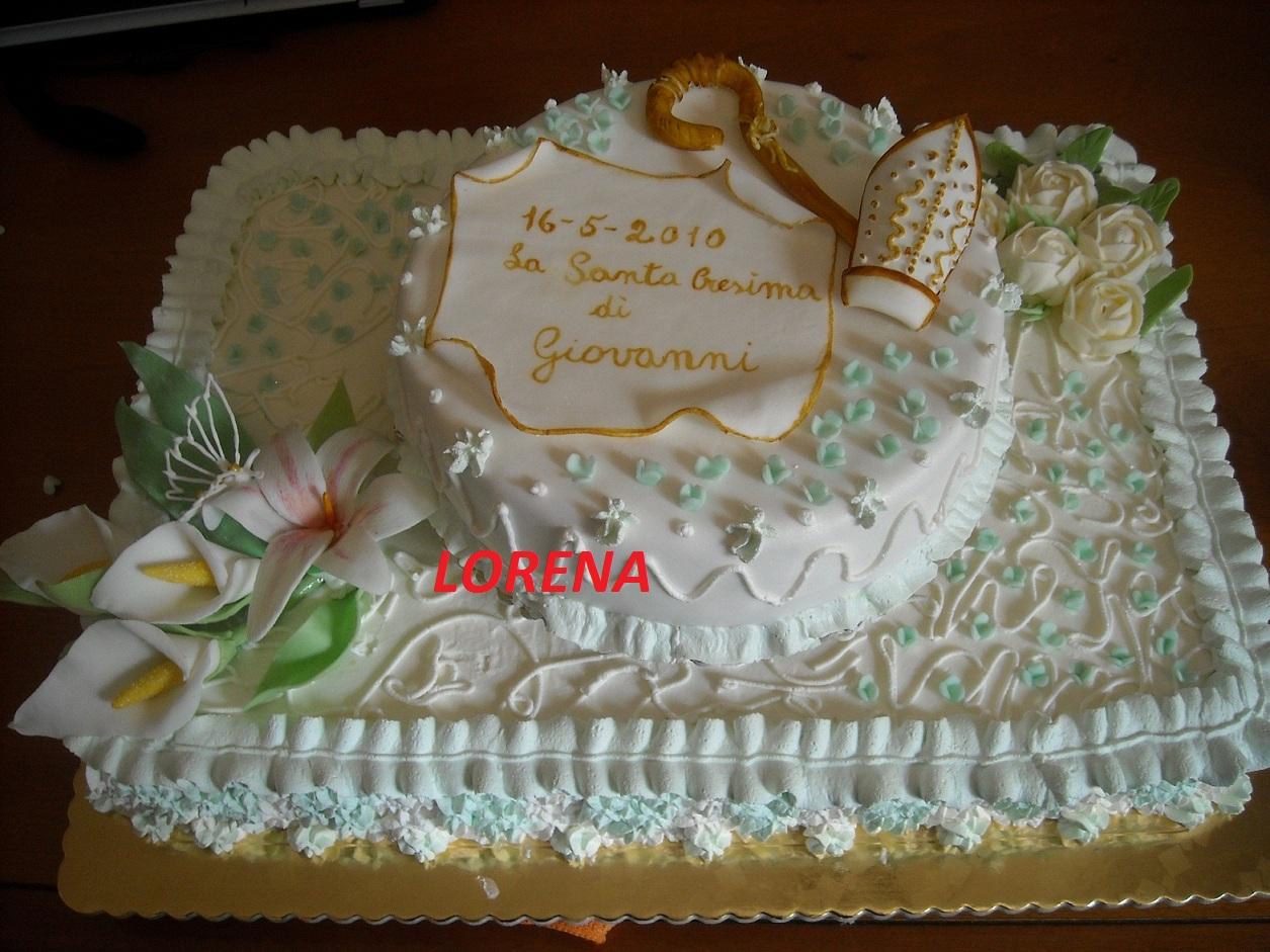 Le torte di lorena e non solo cresima di giovanni for Decorazioni torte per cresima