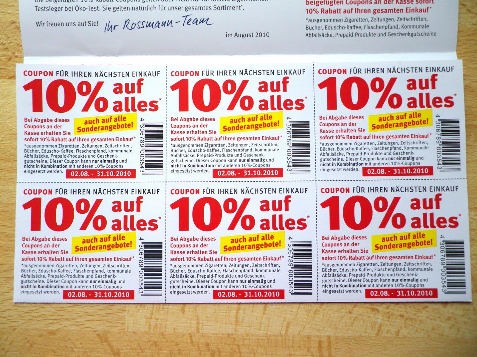 Liana Laurie ♥♪♫: Rabatt-Coupons von Rossmann!