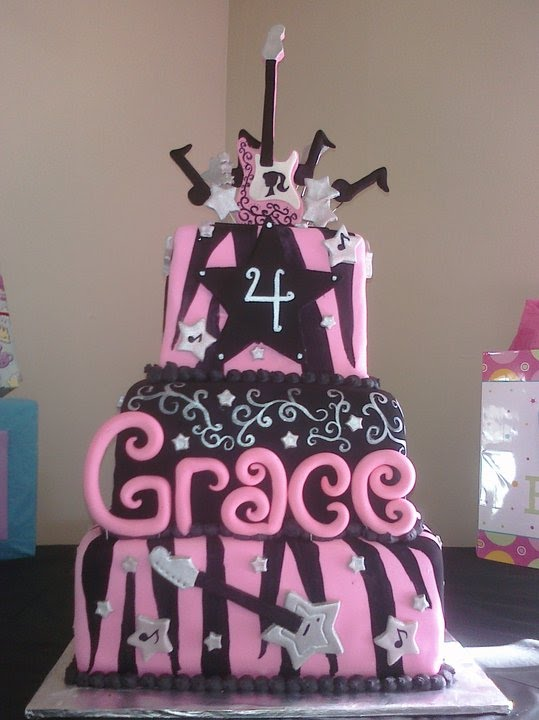 Pam S Custom Cakes Rock And Roll Barbie