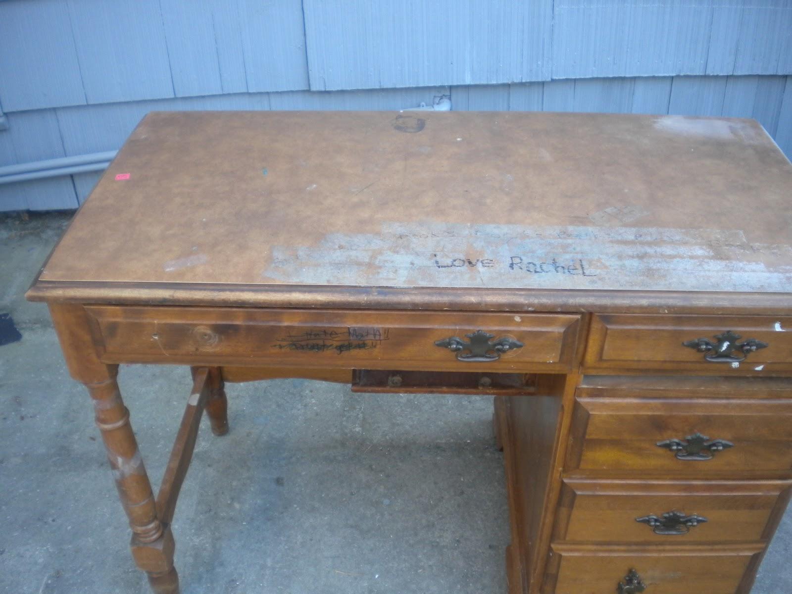 Sons Tween Room Refinished Desk Before After