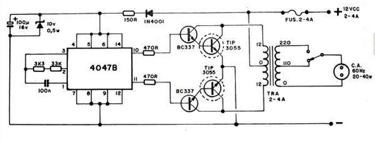 Inverter Menggunakan Ic 4047b 20