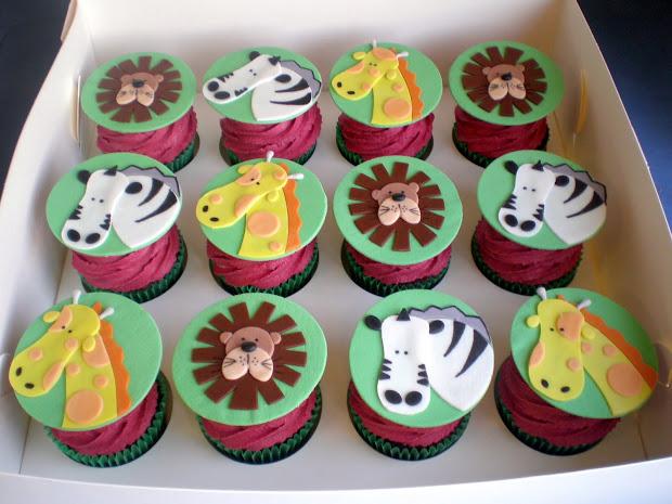 Sugar Siren Cakes Mackay Jungle Safari Animal Cupcake Tower