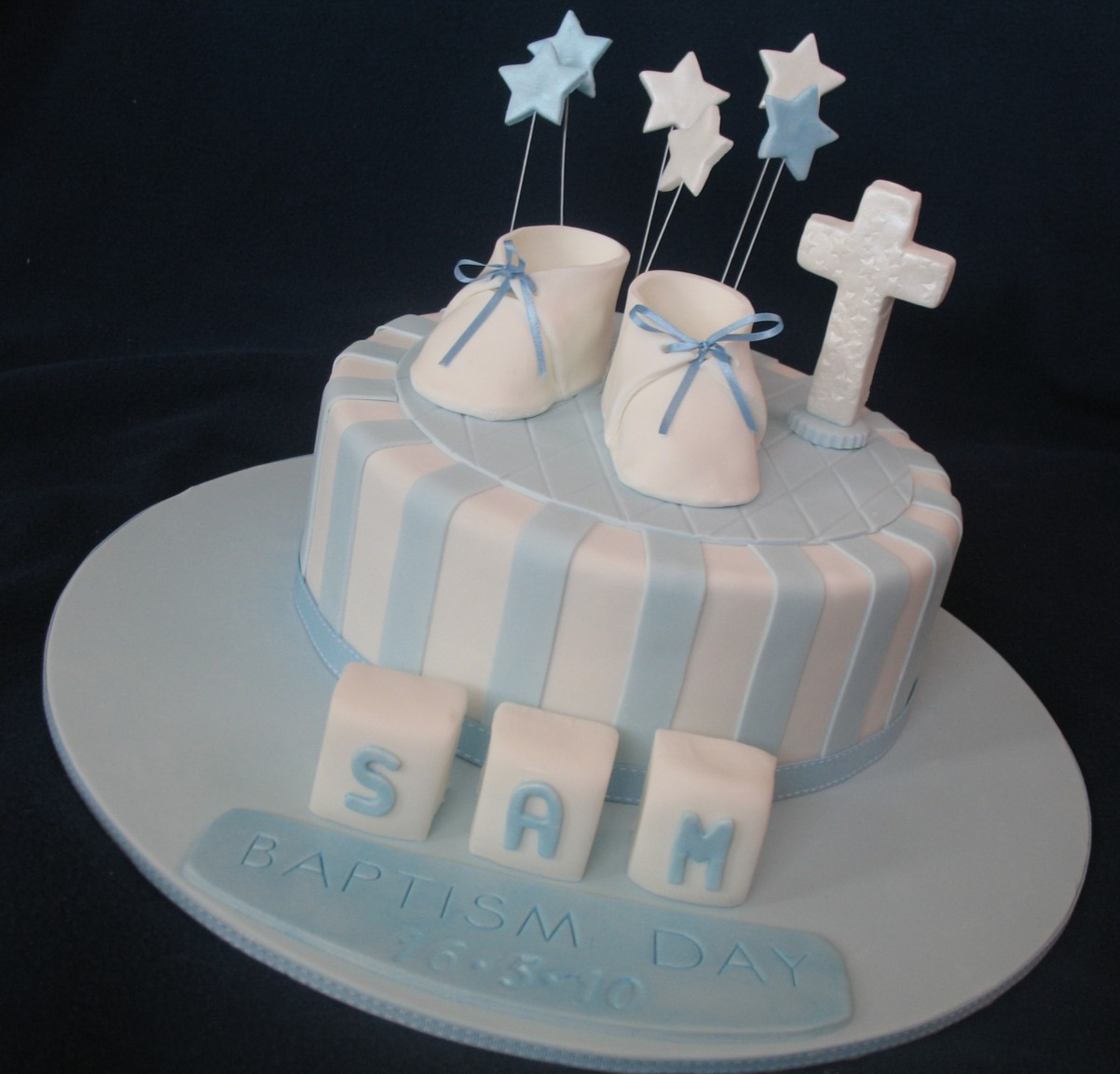 Blissfully Sweet A Taste Of Boy Baptism Cake