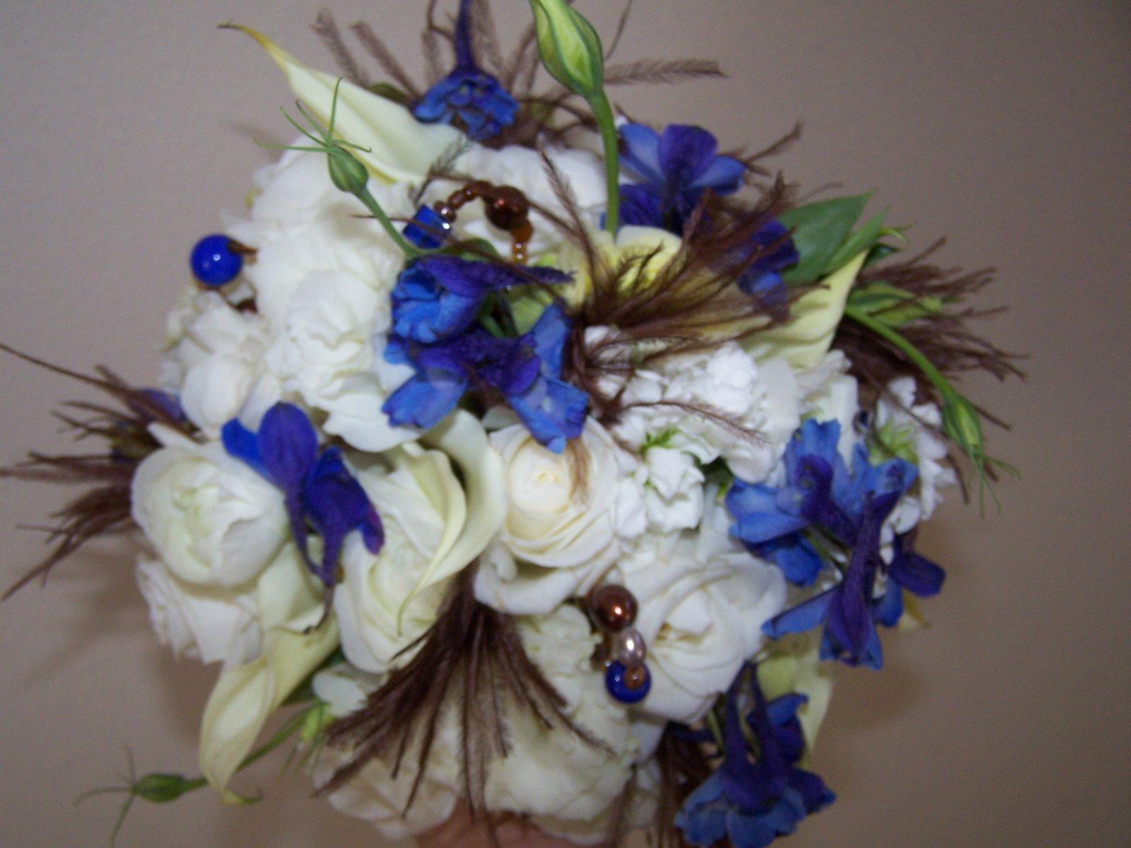 Wedding Flowers: Dark Blue Wedding Flowers