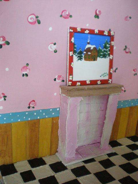 Cinderella Moments: Christmas Dollhouse Interior Progress