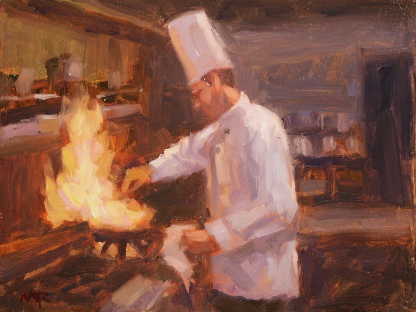 Mike Rooney Studios- Painting a Day: Chef Series