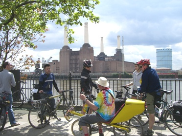 Looking at Battersea Power Station on lambethcyclists.org.uk