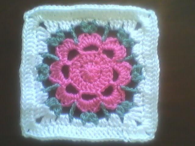 Clara S Corner Crocheted Granny Square