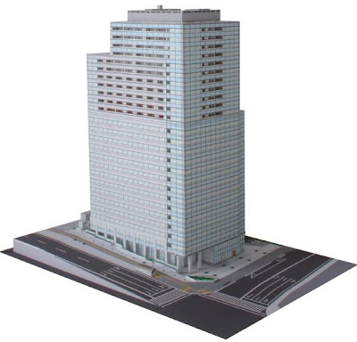Japanese Paper Craft Buildings