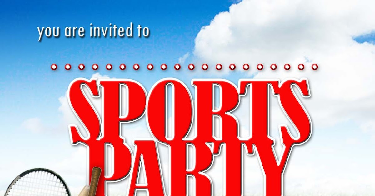 Free Kids Party Invitations Sports Party Invitation