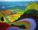 Yorkshire Wolds as seen by David Hockney