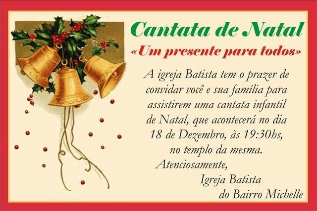 Mensagem De Apresentação De Bebe Na Igreja: Igreja Batista Em Vianopolis-Go: CANTATA DE NATAL 2010