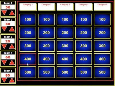 Jeopardy Template For Teachers jeopardy template 36 free word – Jeopardy Powerpoint Template