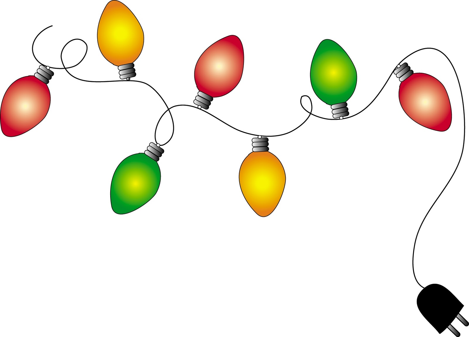 clipart of christmas lights - photo #12