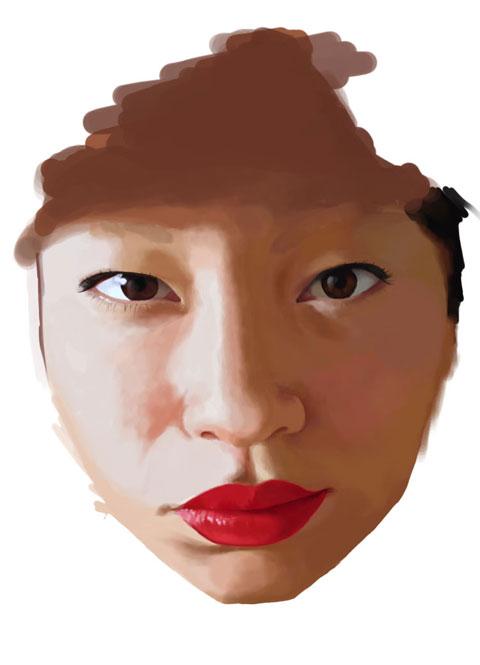 cinta gambar panas  gambar wajah lukisan wanita