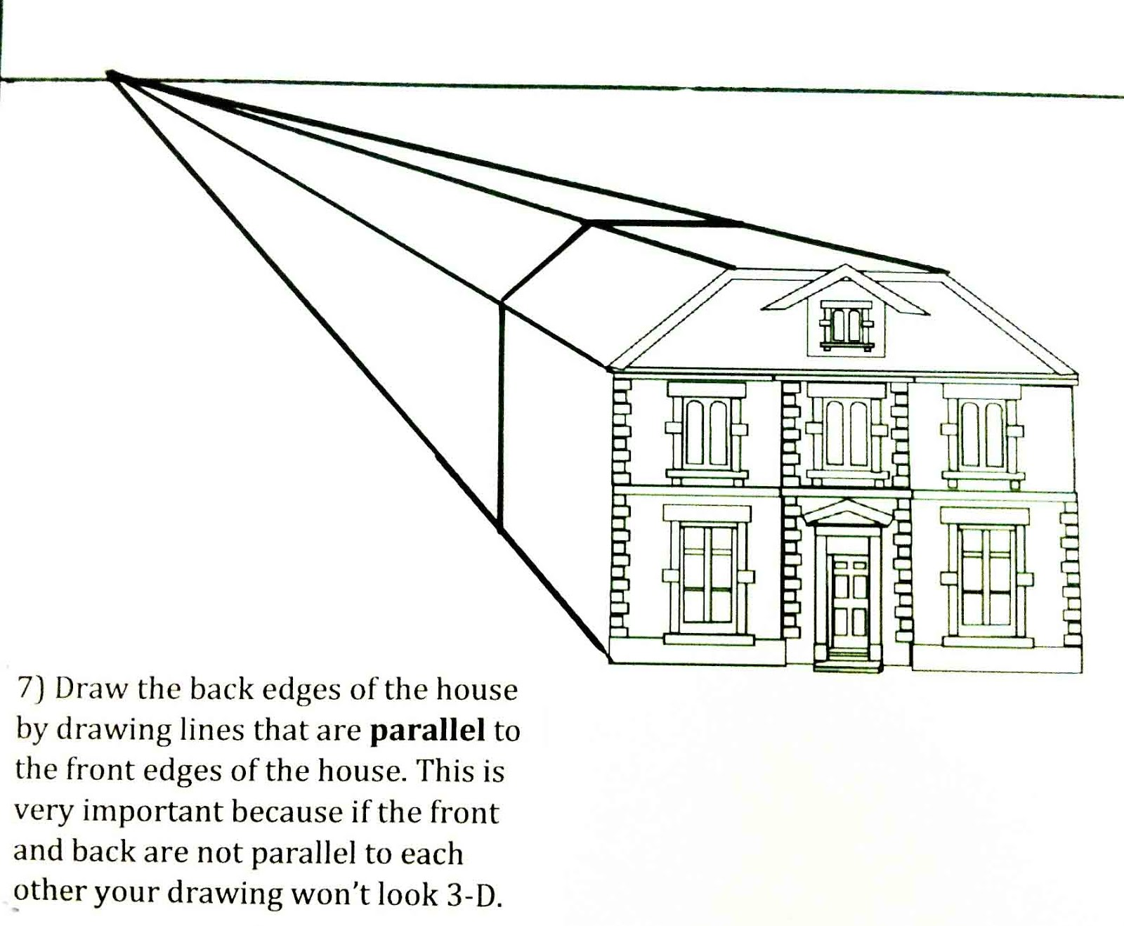 The helpful art teacher perspective drawing 101 drawing for Draw your house