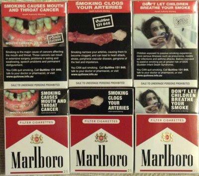 Visual Magpie Visual Deterrent Warnings Of Smoking
