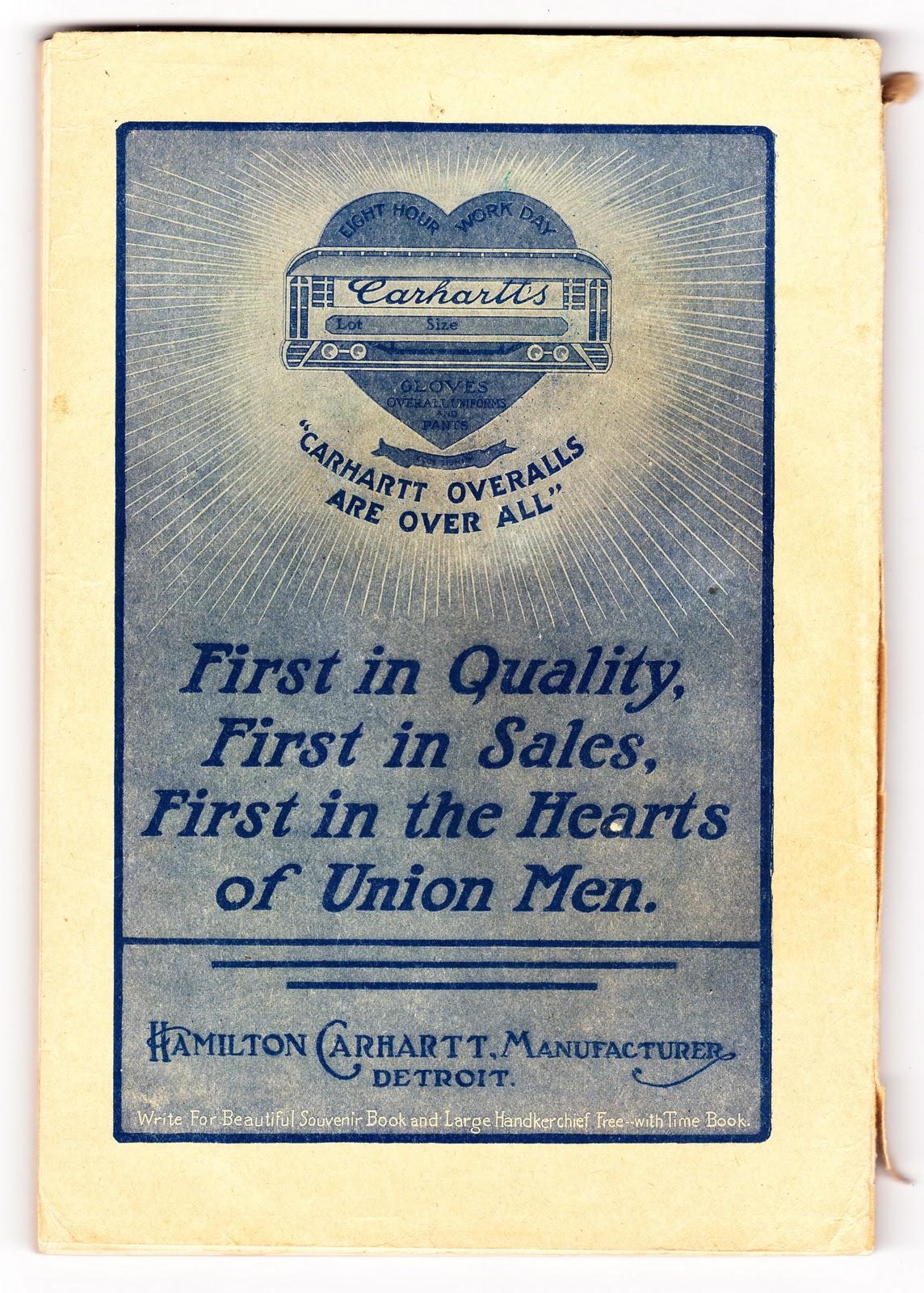 Vintage Workwear Deadstock 1940 S Era Carhartt Union Made