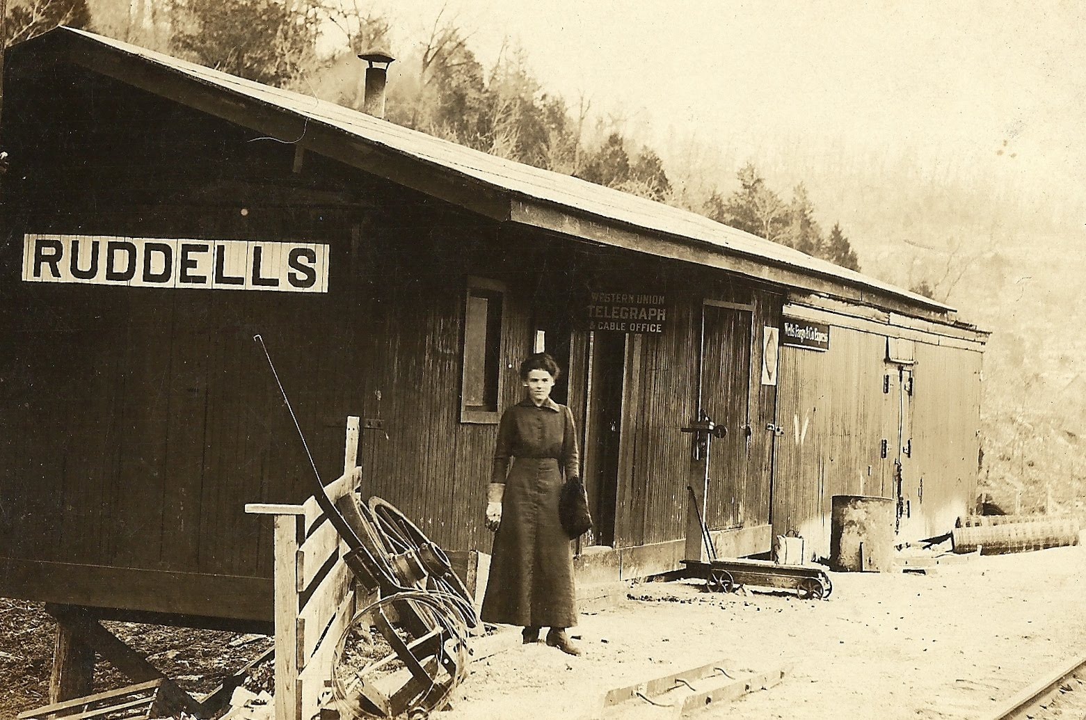 Exploring Izard County: Vintage Photos: Old Ruddells Depot