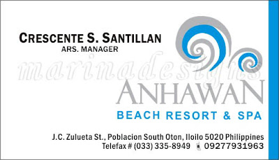 Calling Card Sample Business Beach Resort Spa