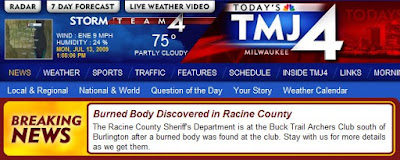 JT IRREGULARS: Burned Body Discovered in Racine County