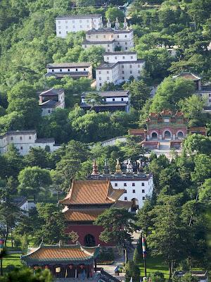 Imagen de varios de los Monasterios Exteriores en Chengde