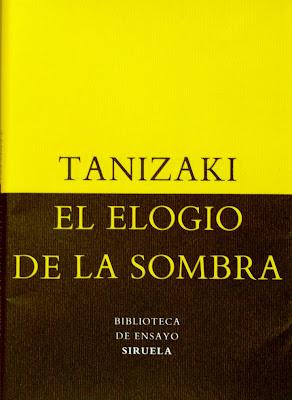Portada del libro de Tanizaki: Elogio de la Sombra