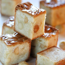 WHITE CHOCOLATE MACADAMIA BLONDIES...very fudge-like?