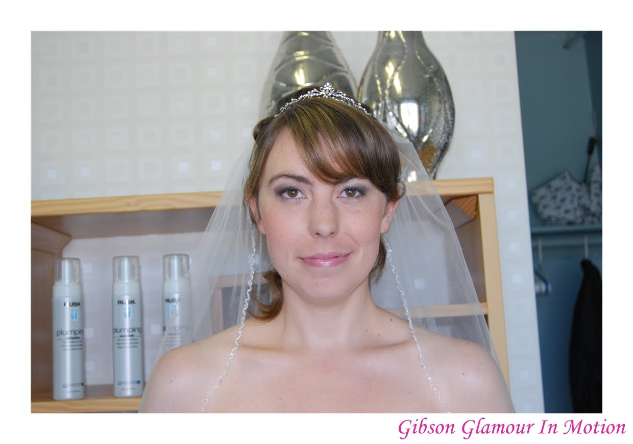 gibson glamour in motion: hamilton wedding hair and makeup - tracy