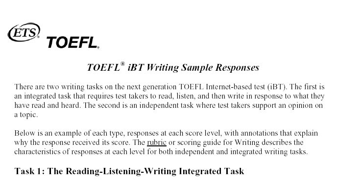 Toefl ibt writing sample questions and answers dirt bikes essays