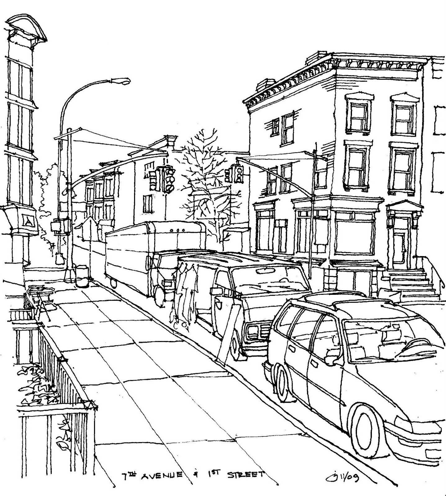 Park Slope Sketch November