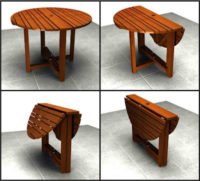 Grupo impronta dise o mesa plegable para exterior - Herrajes para mesas plegables ...
