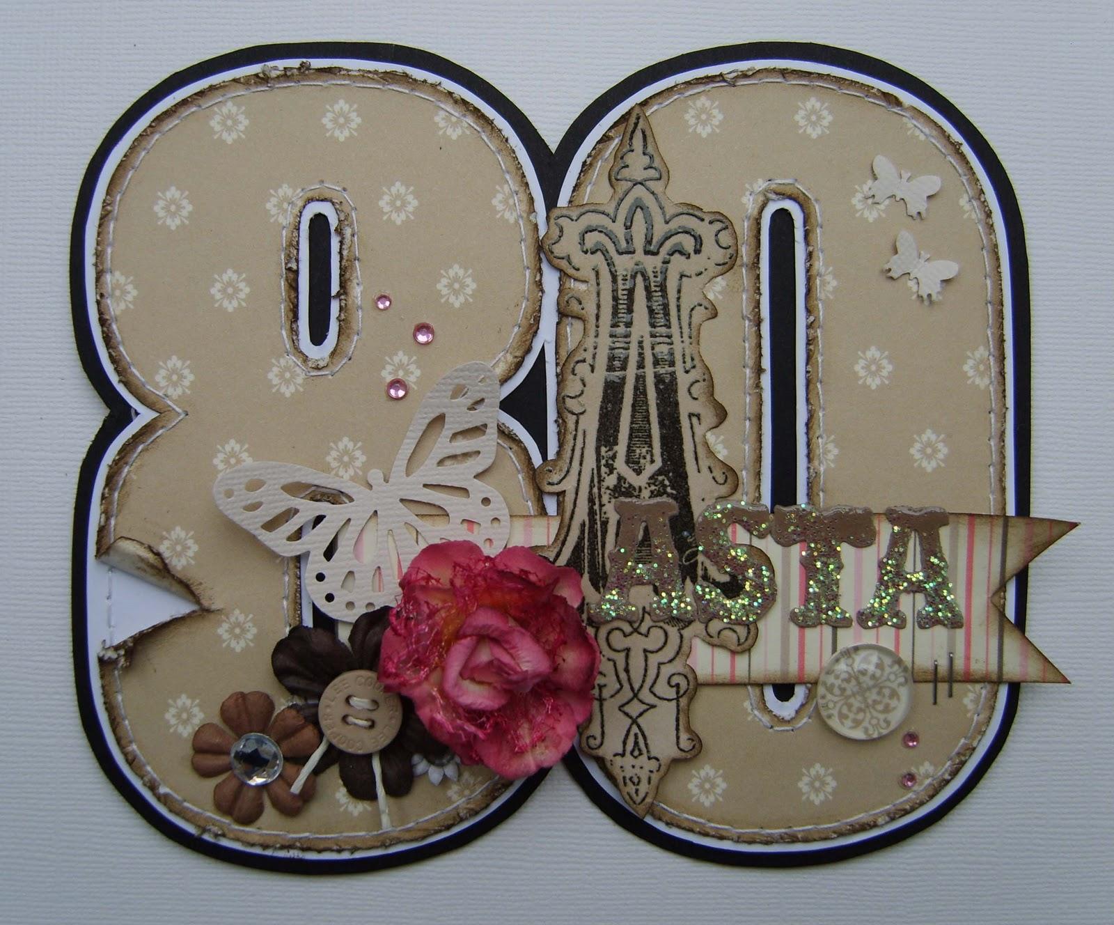 80 års kort byDonna: 80 års fødselsdagskort 80 års kort