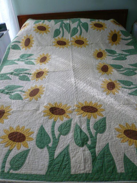 Applique Vintage Betsie Bay Fiber Arts: Vintage Sunflower Quilt