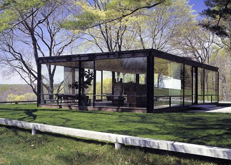 alex smith philip johnson his glass house 1949 with later additions. Black Bedroom Furniture Sets. Home Design Ideas