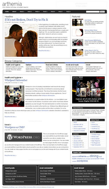 Arthemia Magazine Wordpress Theme