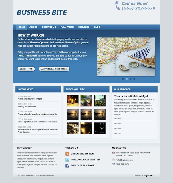 Business Bite Wordpress Theme by WPZoom Free Download.