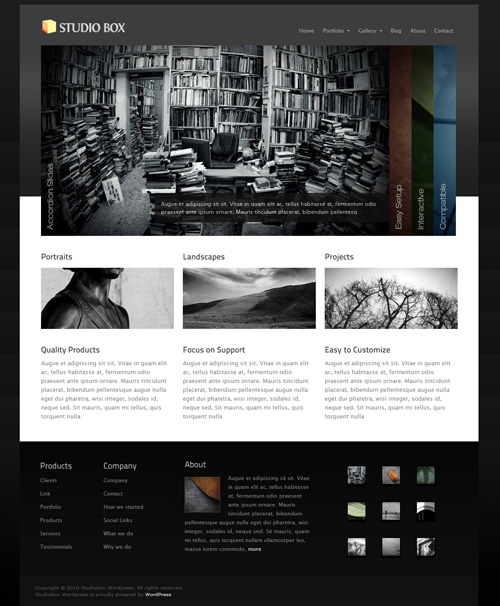 Studio Box Wordpress Theme Free Download by Themeforest.
