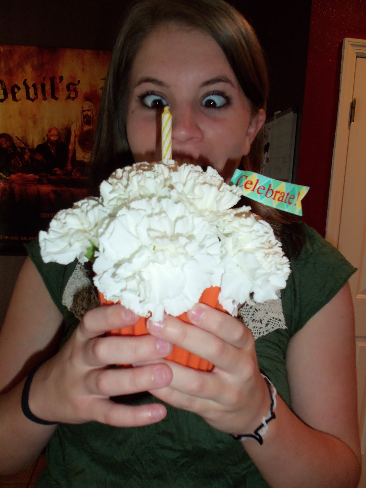 Flower Cupcake Delivers A Birthday Smile