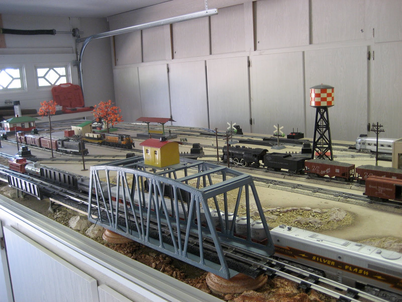 American Flyer Cabinet Top Train Layout