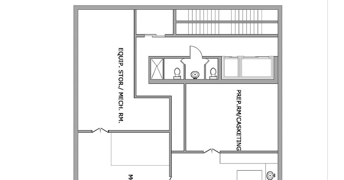 Funeral Home Floor Plans: ARCH3611SP09NFRANK: Floor Plans And 3d